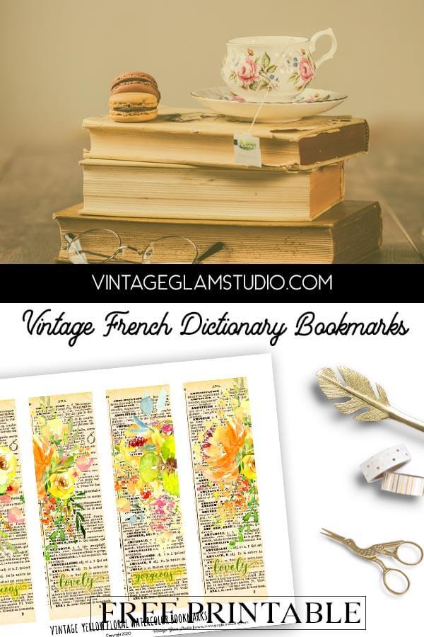 vintage bookmarks bookmarks printable
