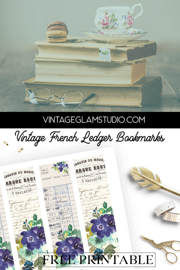 vintage ephemera bookmarks