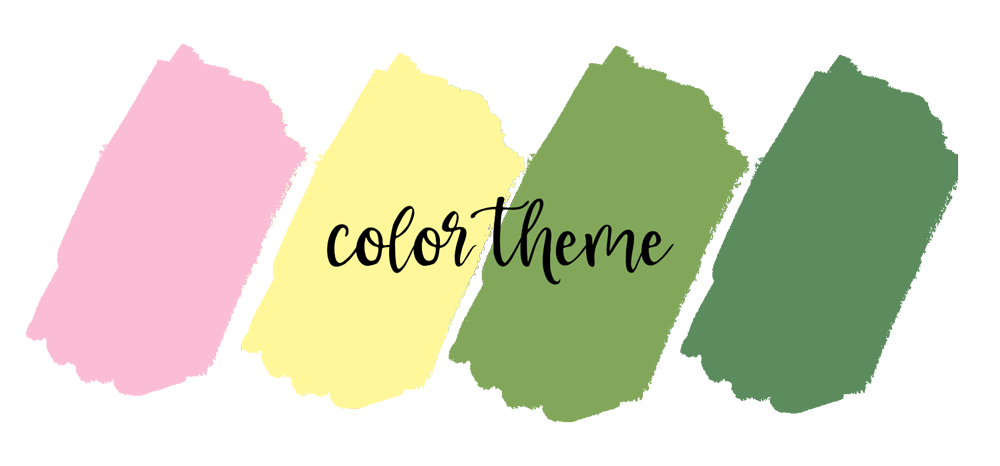 lemon digital paper color theme