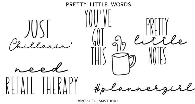 doodle script word