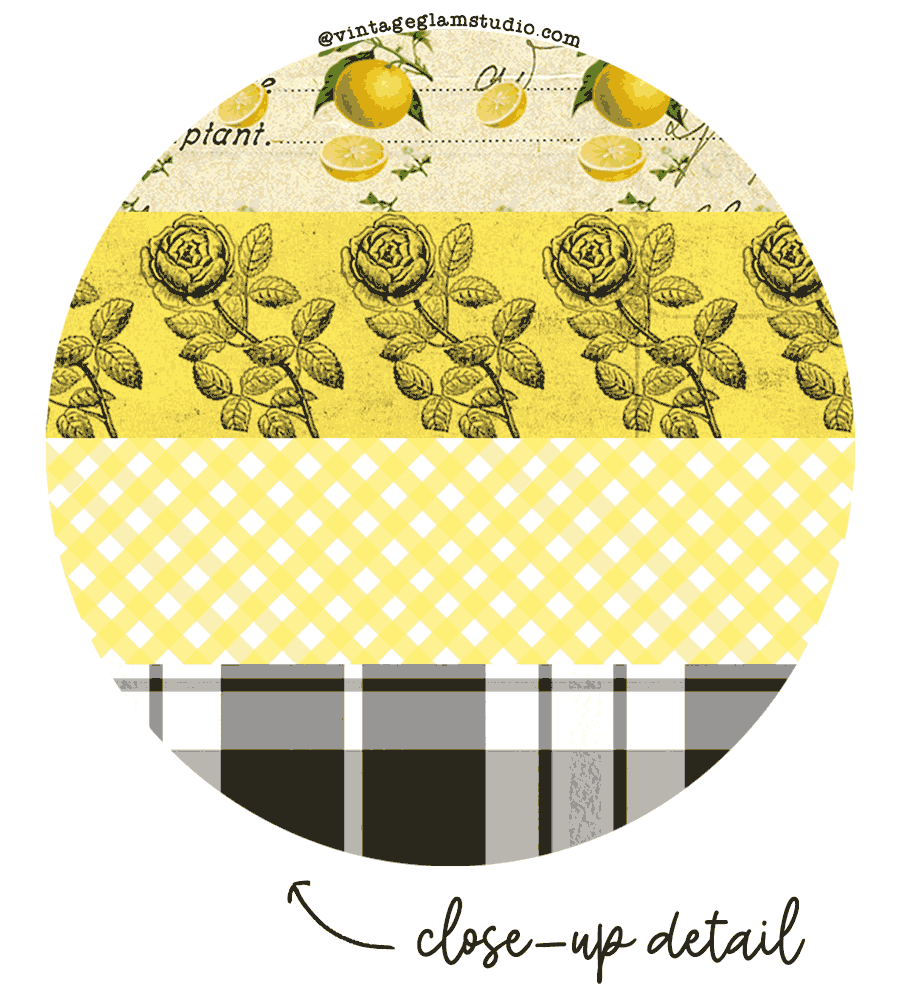 vintage ephemera washi, farmhouse
