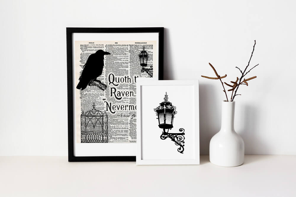 halloween quote wall art
