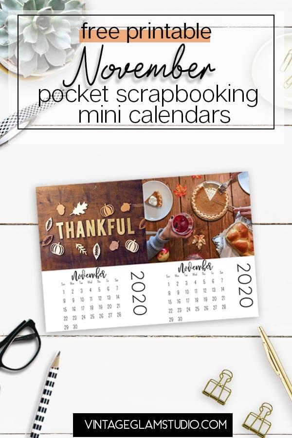 pocket scrapbooking mini calendars