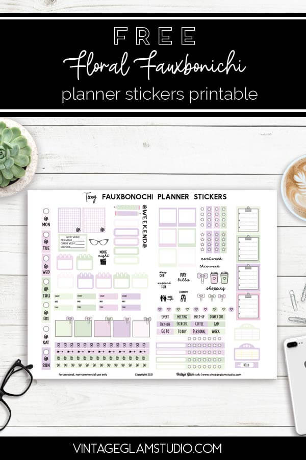 fauxbonichi planner stickers, desktop