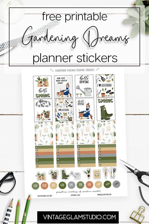 garden planner stickers