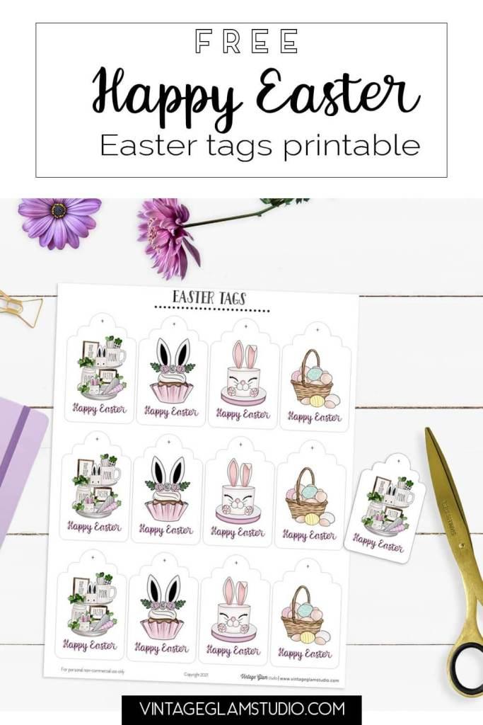 easter tag printable