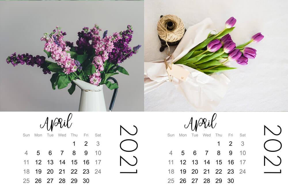 april mini calendars