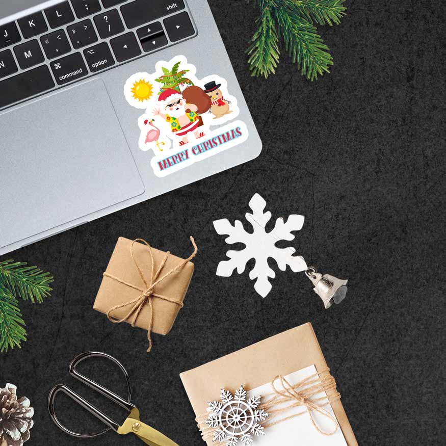 laptop stickers, Christmas
