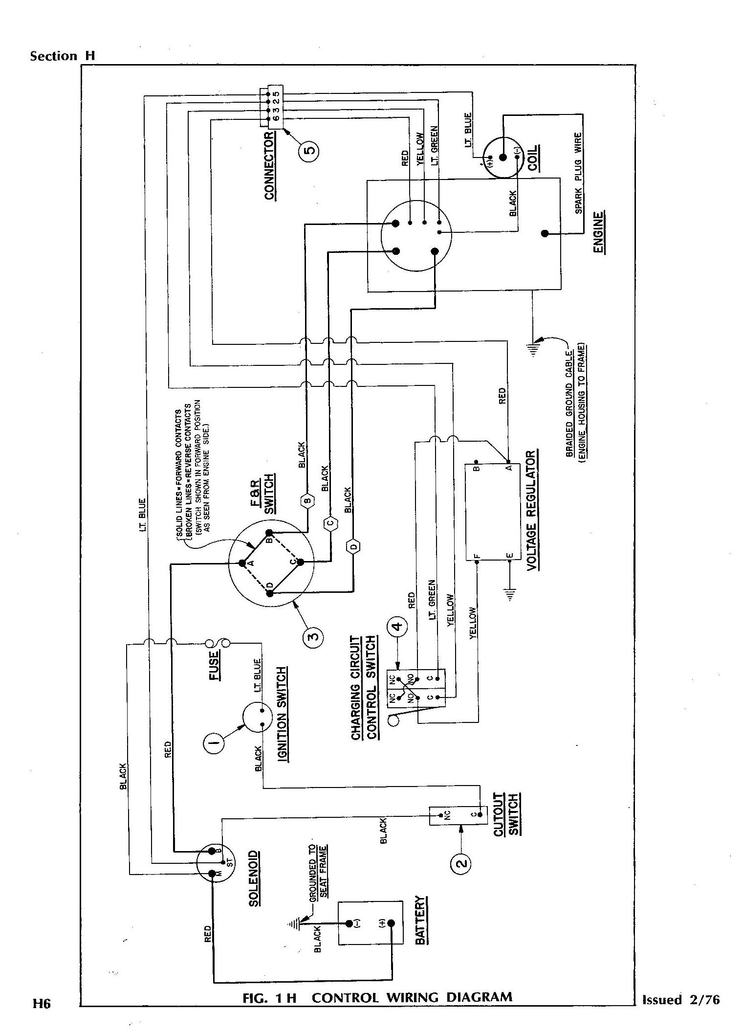 76E Z GO_Gas?resize=665%2C926 wiring diagram for 36 volt club car golf cart the wiring diagram 1994 club car wiring diagram at fashall.co