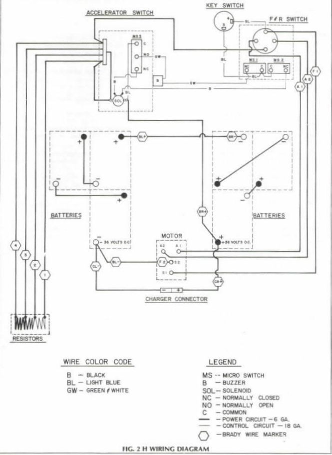 ez go electric golf cart wiring diagram, Wiring diagram