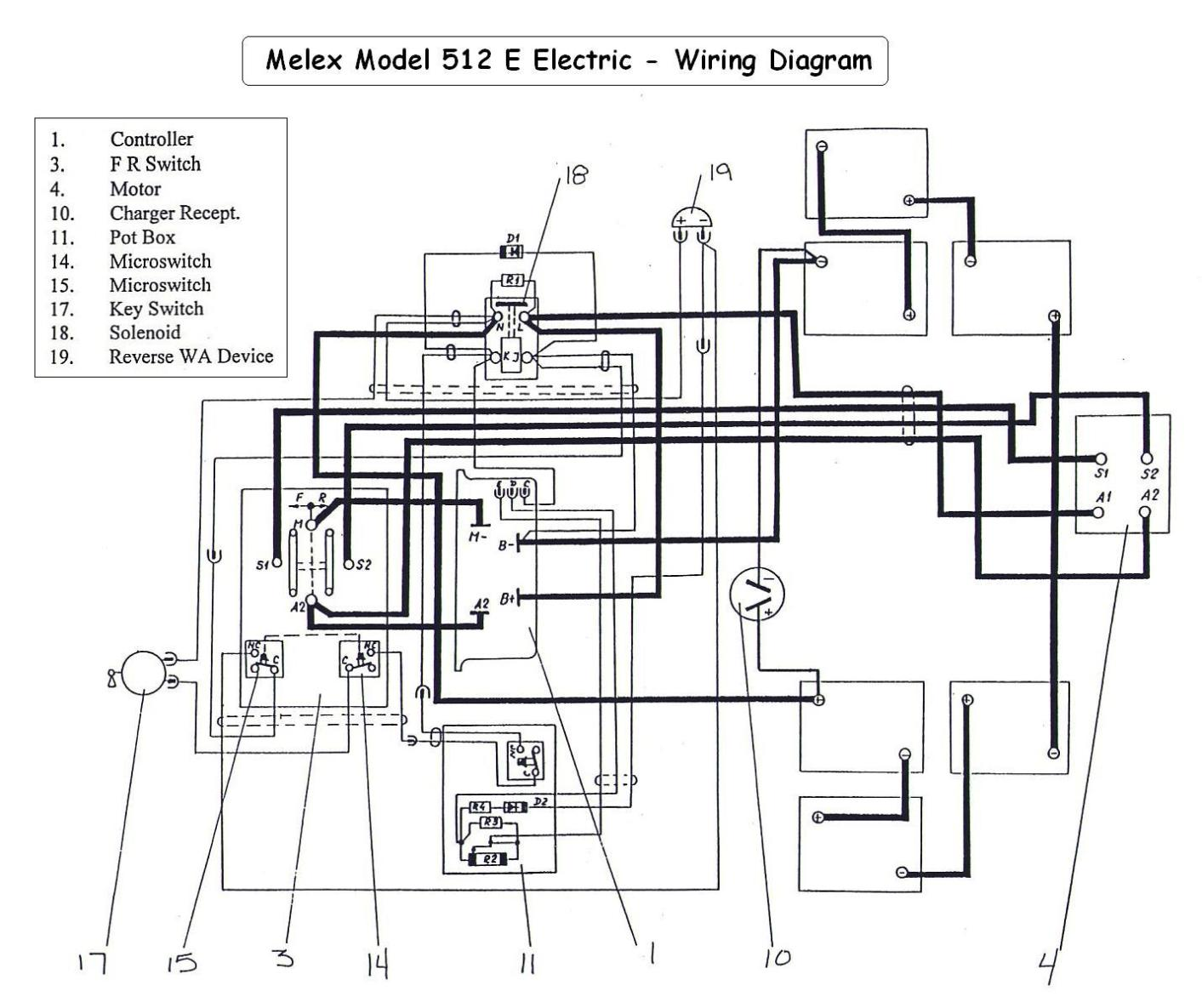 battery wiring diagram electric golf cart wiring diagram club car golf cart wiring diagram batteries nodasystech