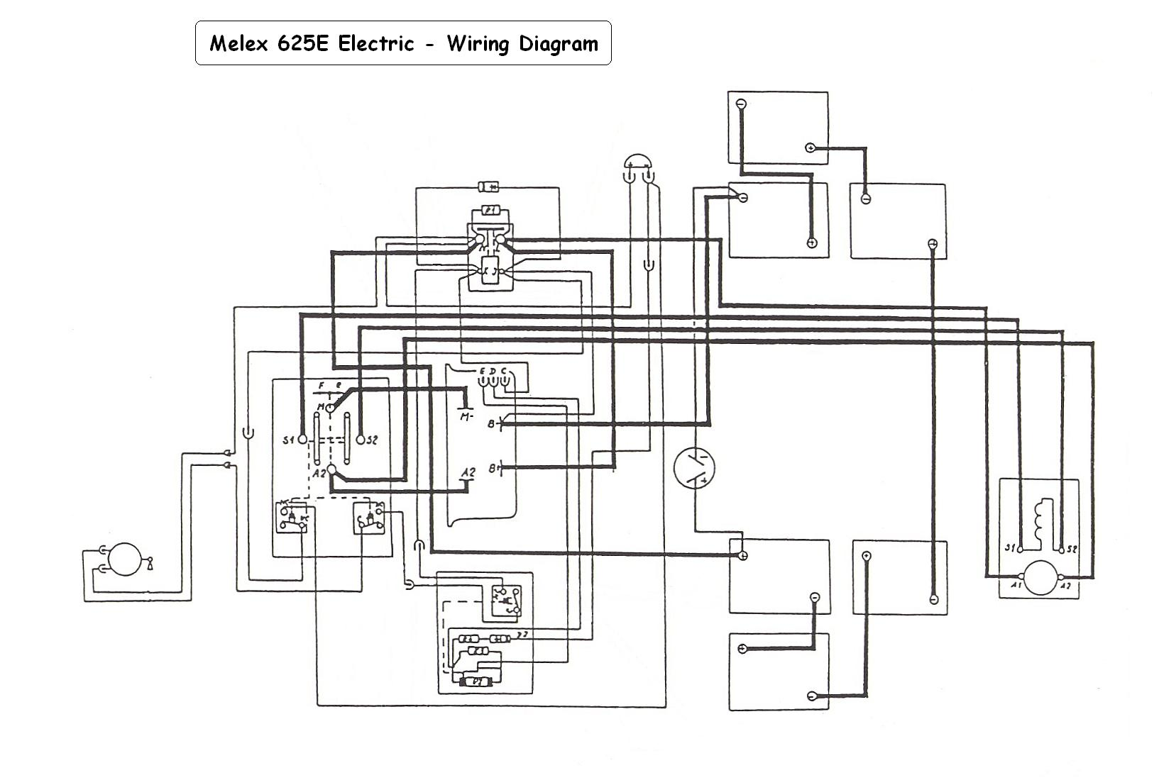 Ez Go    36       Volt    Electric Golf Cart    Wiring       Diagram         Wiring