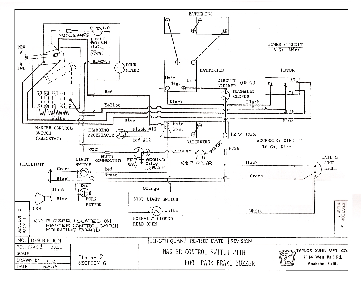 Wrg Taylor Dunn Battery Wiring Diagram