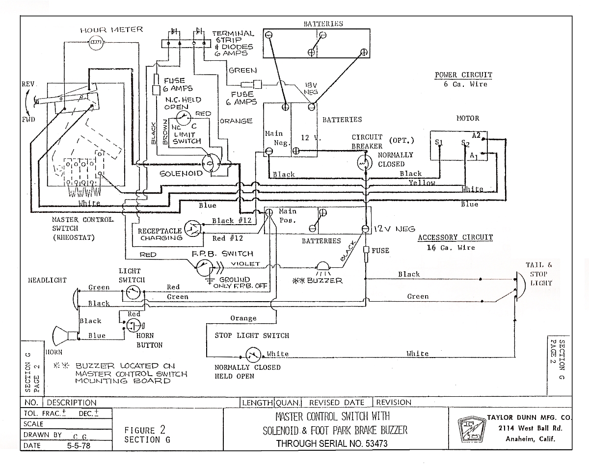 1984 Club Car Golf Cart Wiring Diagram 36 Volts