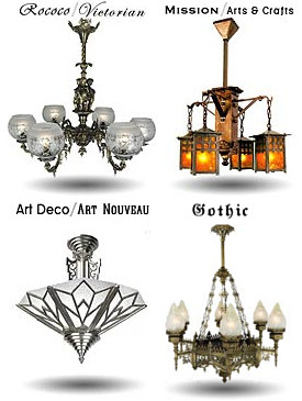 vintage reproduction and antique lighting