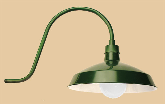 recreated wall mounted outdoor barn light or gas station fixture 241 ins gr