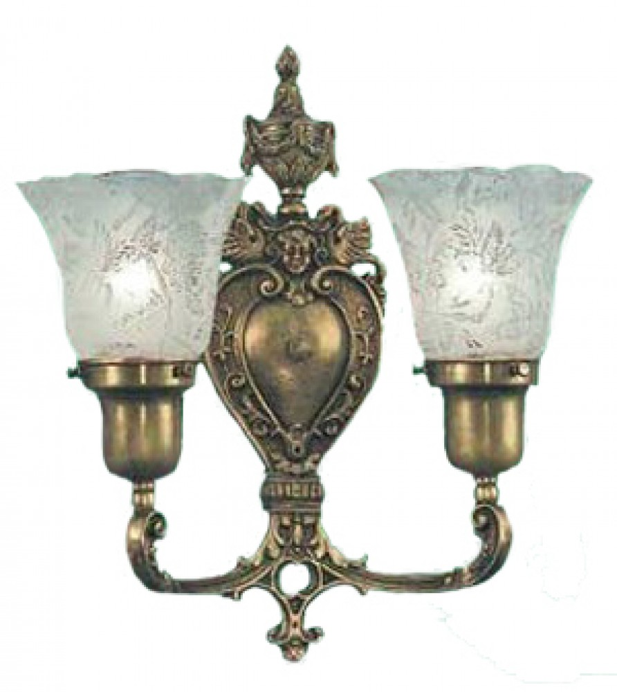 Vintage Hardware & Lighting - Victorian Style Double Wall ... on Victorian Wall Sconces id=26436