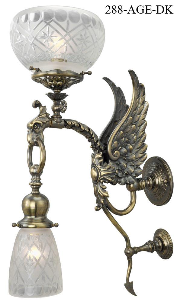 Vintage Hardware & Lighting - Victorian Phoenix Bird ... on Victorian Wall Sconces id=59035