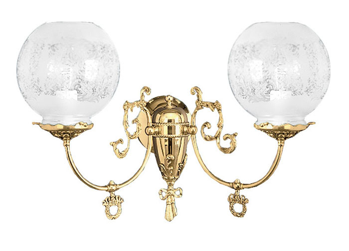 Vintage Hardware & Lighting - Victorian 2 Arm Gas Wall ... on Victorian Wall Sconces id=14830