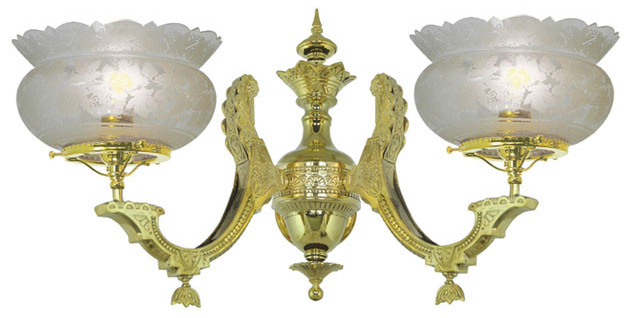 Victorian Sconce - Neo Grecian 2 Arm (872-TRR-ES) on Victorian Wall Sconces id=44926