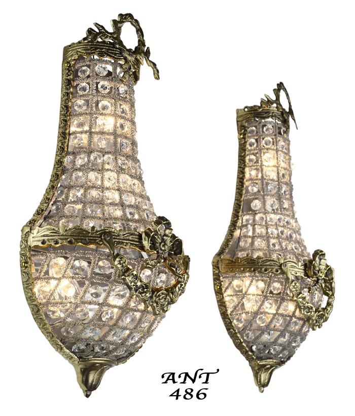 Vintage Hardware & Lighting - Antique French Basket Style ... on Vintage Wall Sconces id=31832