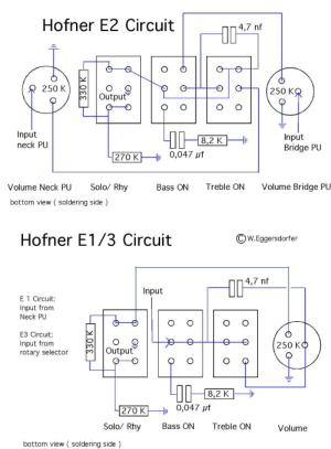 Hofner Standard E2 Schematic Diagram