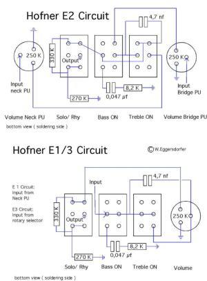 Hofner Standard E2 Schematic Diagram