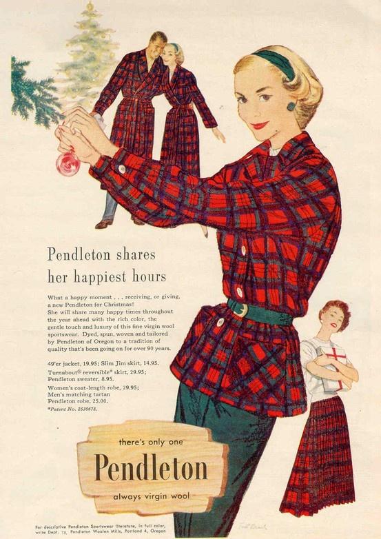 1950s Pendleton vintage advertising