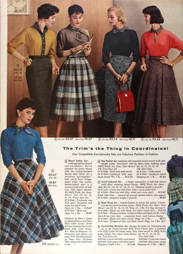 1957 plaid and tweeds vintage advertising