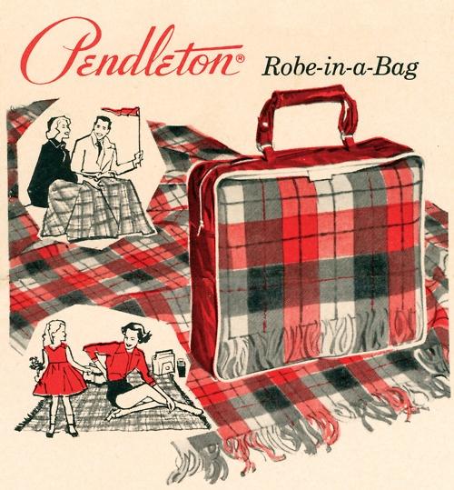 Vintage Pendleton blanket ad