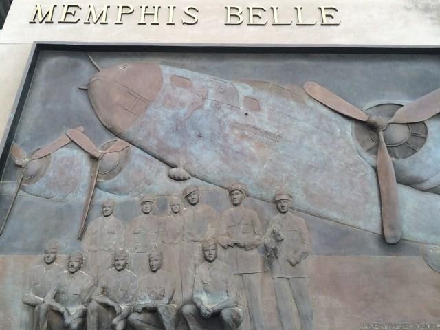 Memphis Belle Statue in Overton Park
