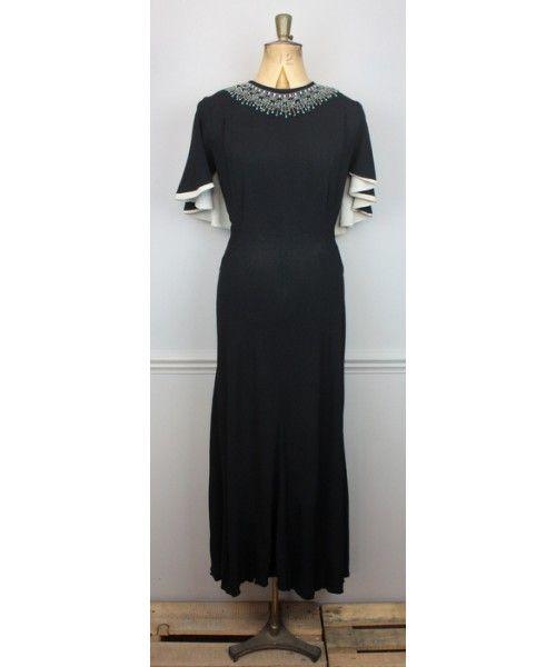 1930s Solene Original Capelet Gown