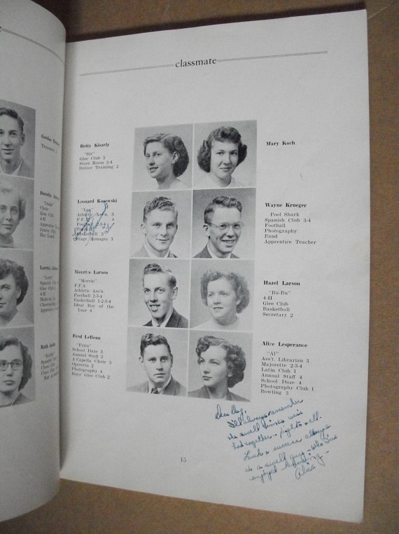 1950s Vintage Yearbook