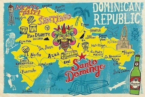 dominican republic vintage travel poster