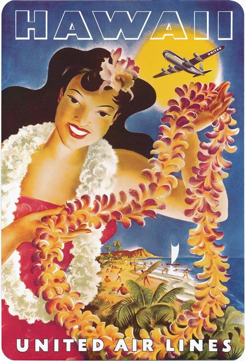 Vintage Hawaii United Air Lines Ad