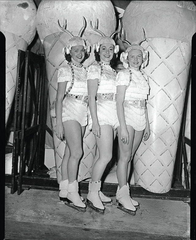 Maple Leaf Gardens ice show performers 1950s