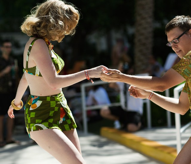Jive dancing at the VIVA Pool Party