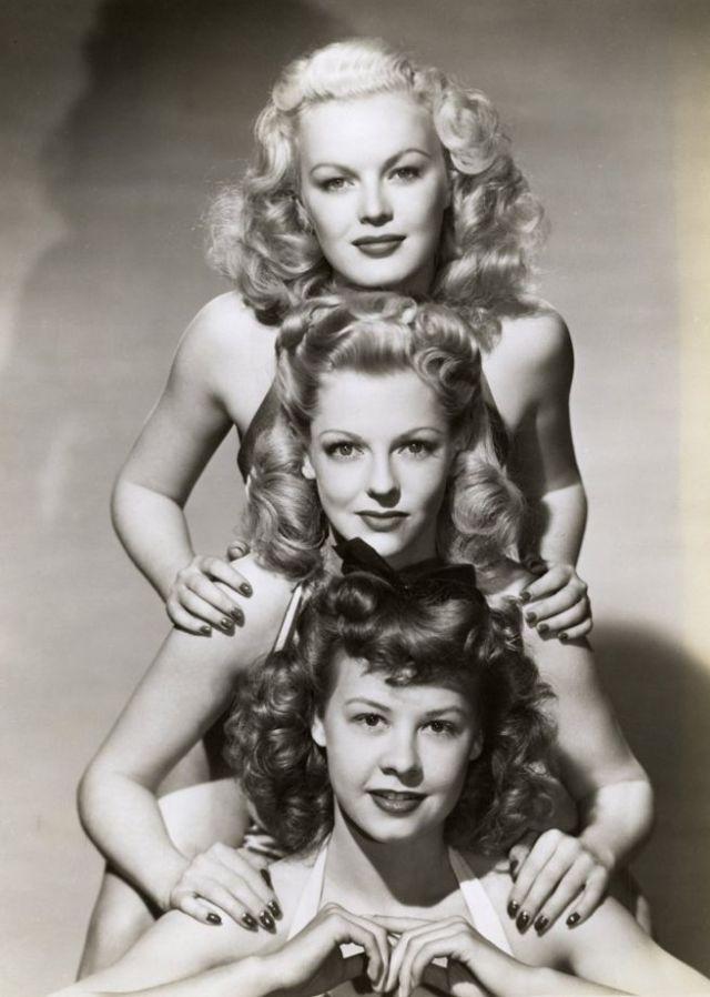 1940s movie stars vintage image