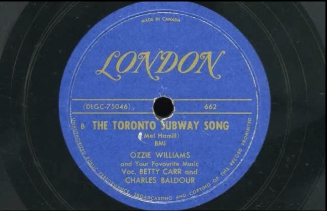 Toronto Subway song 1950