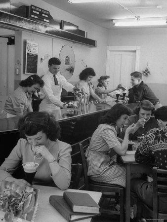 1950s malt shop image