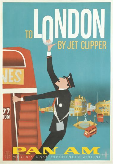london travel poster for Pan Am