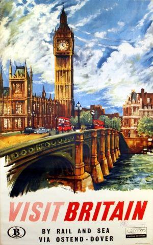 visit britian vintage travel poster