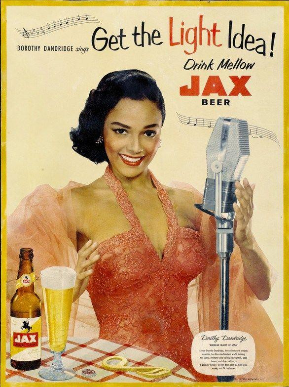Dorothy Dandridge in a 1950s Jax beer advertisement