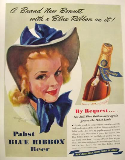 Pabst Blue Ribbon vintage advertising