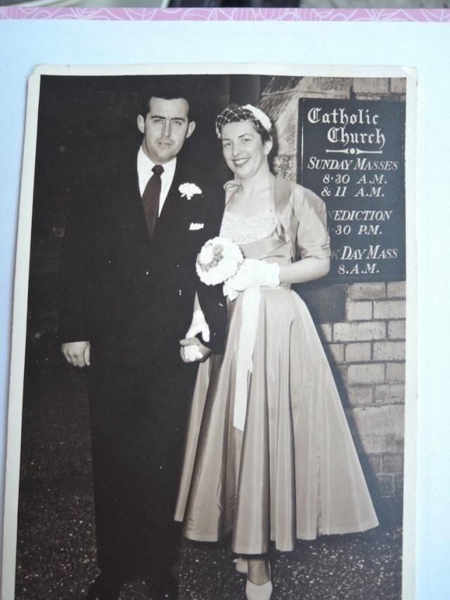1950s vintage wedding picture