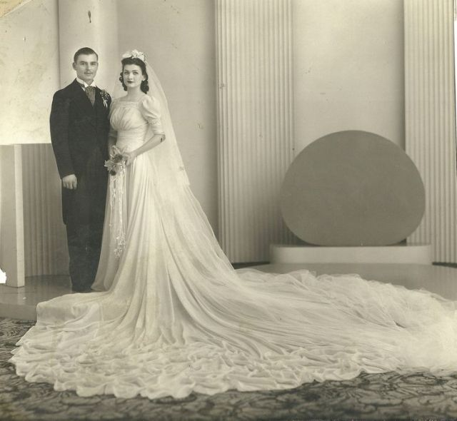1930's vintage wedding photo