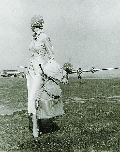 1950s woman with plane