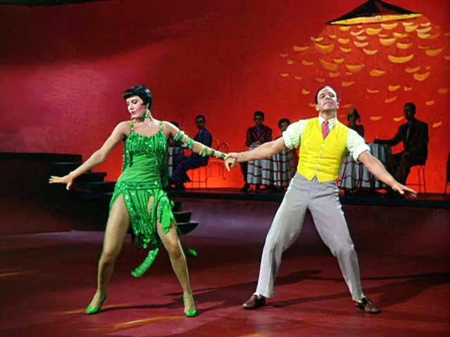 "Cyd Charisse and Gene Kelly in ""Singin' in the Rain"""