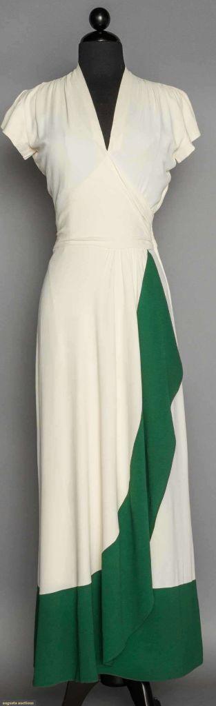 1940s vintage evening dress