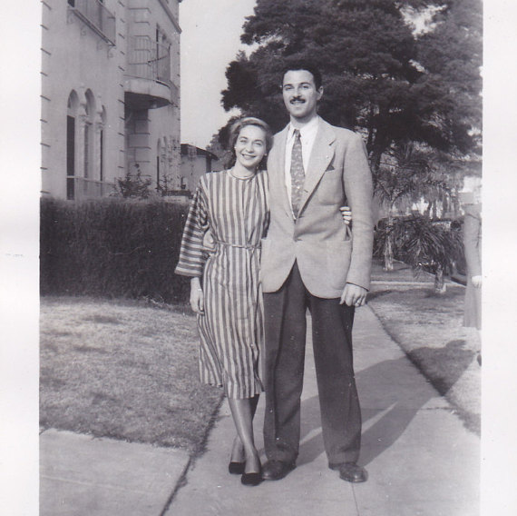1950s vintage image of a couple